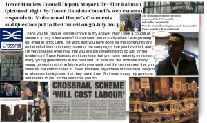KHOODEELAAR! ACTION UPDATE on Tower Hamlets Council's role in serving the Community