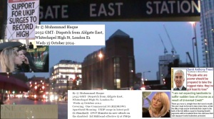 Dispatch from Aldgate East