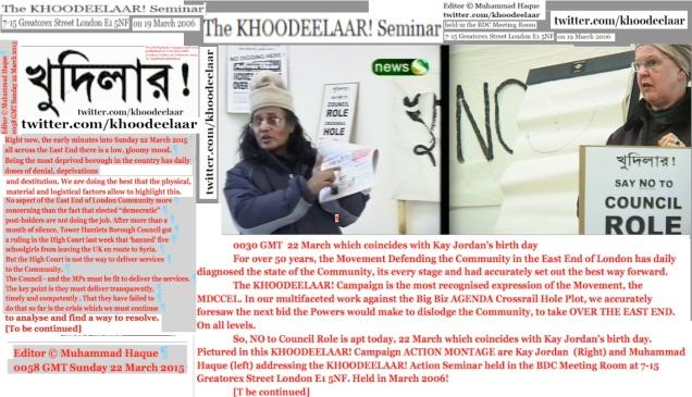 KHOODEELAAR! Action Commentary 0120 GMT London Sunday 22 March 2015 Editor © Muhammad Haque