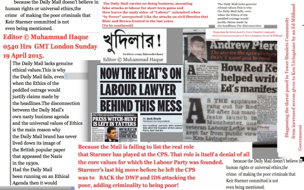 0554 GMT 19 Apr 2015 Diagnosing the threat posed to Tower Hamlets Community from increased access given to Ken Livingstone by an Ed Miliband Government