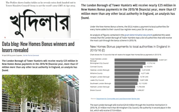 The Pickles shows loadsa tickles as he reveals extra dosh handed out to Tower Hamlets Council! Irony is not the word! 1202 GMT 16 Apr 2015