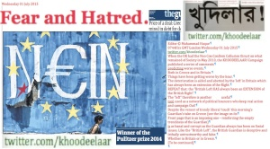 Fear and Hatred in Europe and Greece 0752 GMT Weds 01 July 2015