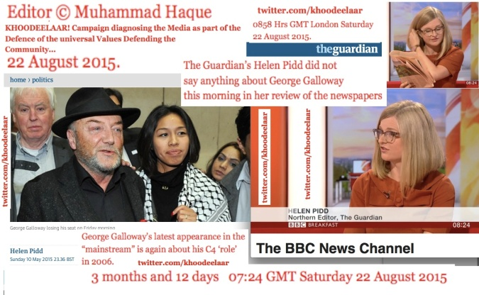 0914 GMT London Sat  22 Aug 2915 The KHOODEELAAR! Campaign diagnosing the Media as part of the Defence of the universal Values Defending the Community...