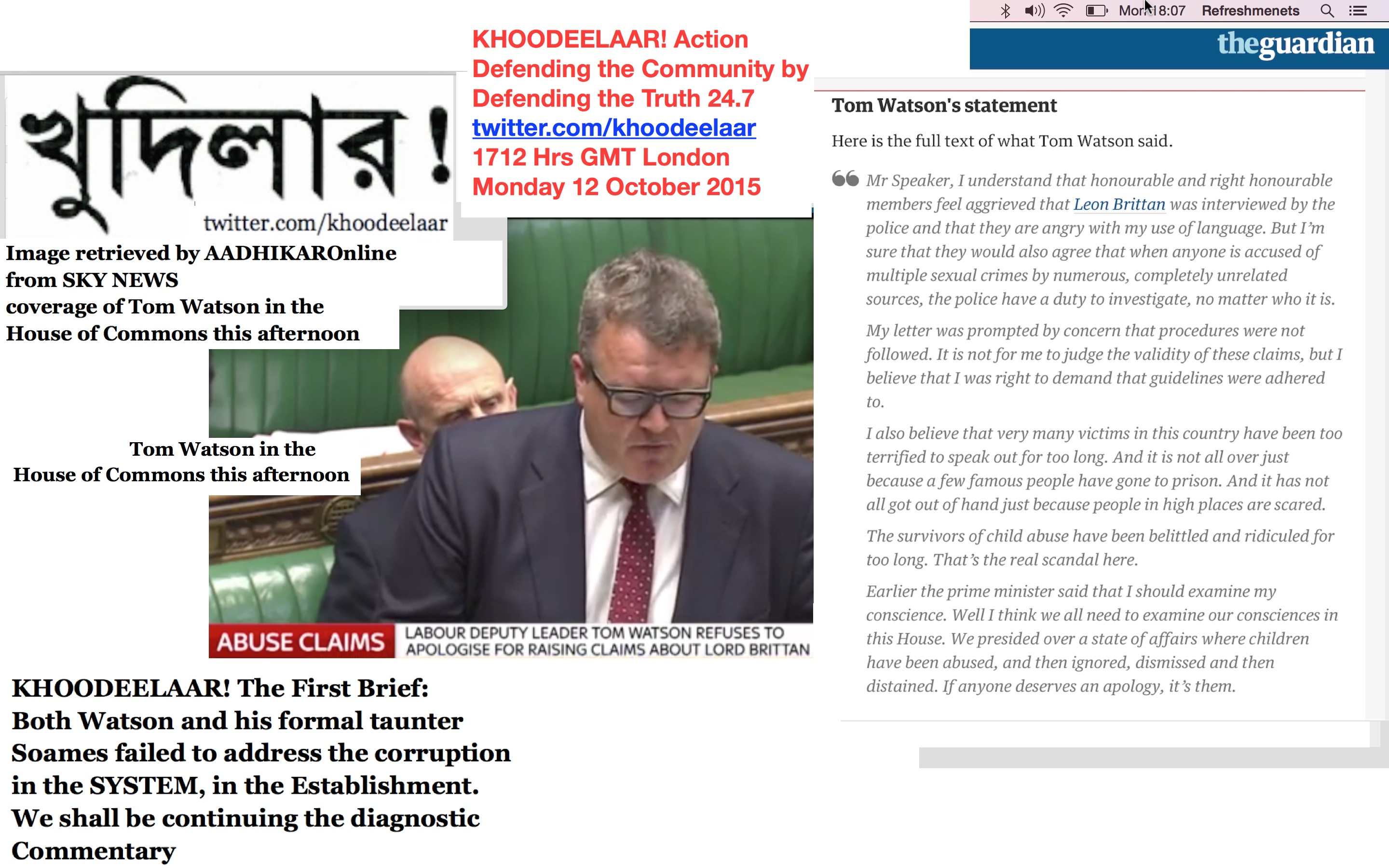 Khoodeelaar The First Brief Both Watson And His Formal Taunter