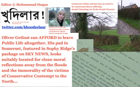 0330  Hrs GMT London Thursday 31 December 2015.  Editor © Muhammad Haque. Cameron's Cronies List contains too many corrosive contaminants! Against Society and against People